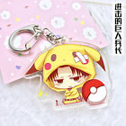 Lovely Cartoon Key Ring Pendant Chain Cos Anime Attack on Titan Key Pendants