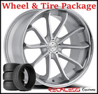 22 BLAQUE DIAMOND BD23 CONCAVE SILVER WHEELS  TIRES FITS BENTLEY CONTINENTAL