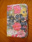 THIRTY ONE Multi Color Floral Bi Fold and Go Organizer Case 2 Zip Compartments