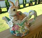 FITZ AND FLOYD BUNNY RABBIT WOODLAND SPRING CLASSICS COLLECTION TEAPOT RETIRED