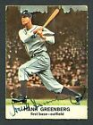 1961 Golden Press Hank Greenberg Signed Card # 4 With JSA Certificate Auto