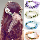 Women Fairy Crown Flower Hairband Boho Floral Headdress Bride Wedding Headband