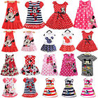 Girls Baby Mickey Mouse Mini Dress Sleeveless Tutu Casual Party Dress for 0 7 Y