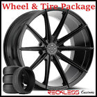 22 BLAQUE DIAMOND BD11 CONCAVE BLACK WHEELS AND TIRES FITS BENTLEY CONTINENTAL