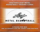 2012-13 Leaf Metal Basketball Sealed Box Of 5 Packs 1 Auto & 1 Insert Per Pack