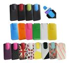 PU Leather Pouch Case Cover Sleeve has Pull Tab for Samsung Phones 2