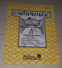 Williams - EARTHSHAKER - Pinball Operations instruction manual, Schematic