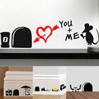 Funny 3D Mouse Hole Removable Wall Stickers Decal PVC Art Living Room Decor US