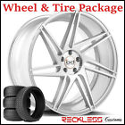 22 BLAQUE DIAMOND BD1 CONCAVE SILVER WHEELS AND TIRES FITS INFINITI FX35 FX45