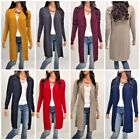 Women Cardigan Long Sleeve Solid Open Front Sweater S M L XL usa seller