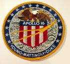VINTAGE RARE APOLLO 16 LION BROTHERS MISSION PATCH 4 INCHES NASA