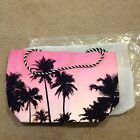 NEW Palm Trees Print Pink Ombre Canvas TOTE Beach Beauty SUMMER Bag Avon LIMITED