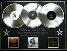 SNOW PATROL/TRIPLE PLATINUM ALBUM DISPLAY/FINAL STRAW + EYES OPEN + A HUNDRED