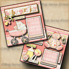 BABY GIRL JOY 2 pre made scrapbook pages paper piecing layout DIGISCRAP A0058