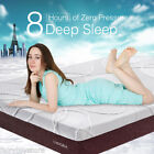 10 Deluxe Memory Foam Mattress High Density 2 Layer Removable Cover Queen Size