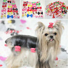 10PCS Puppy Pet Dog Hair Bow with Rubber Bands Grooming Hair Clip