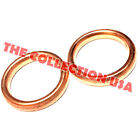 2 Exhaust Muffler Pipe Gasket 305mm X 23mm For Gy6 49cc 50cc 125cc 150cc Motors