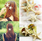 US Womens Girls Fashion Elegant Pretty Natural Starfish Sea Star Hairpin