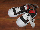 Kids Toddler Girls Boys Canvas Black Red Sneakers Shoes Casual Lace up Size 6