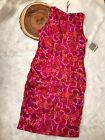 Taylor Red Pink Curve Enhanching Ruched Bodycon Wiggle Dress Valentines Sz 8 NWT