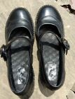 Indigo by Clarks Solid Black Mary Jane Casual Career heels Shoes 82731 sz 75M