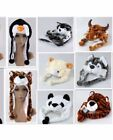 WINTER ANIMAL HAT Fluffy Plush Kids or Adults