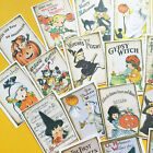 Halloween Stickers Vintage Style Cute Planner Scrapbooking Set of 18