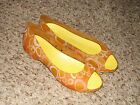 CROCS Wmns Sz 9 Orange Yellow Shoes