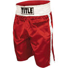 Title Professional Boxing Trunks Red White