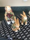 Fitz & Floyd Blackberry Rabbit Salt & Pepper Shakers and container