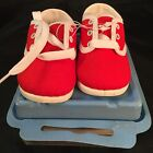 WEE KIDS Red And White Baby Shoes size 1 made in USA Perfect for Reborn Dolls
