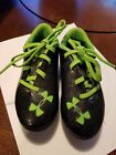 Helly Handson toddler cleats size 9 black and green