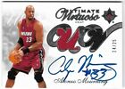 ALONZO MOURNING 07 UD ULTIMATE VIRTUOSO AUTO AUTOGRAPH DUAL JERSEY CARD #24 25!