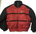 90s Vintage Rare Mens NIKE Puffer Coat Red Black Size L