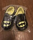 BATMAN SLIP ON SHOES 45 US Infant 6 12 Month Crib Shoes SUPER CUTE NIP