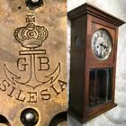 VTG ANTIQUE VIENNA REGULATOR GUSTAV BECKER SILESIA GERMANY WALL ALARM CLOCK P42