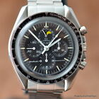 OMEGA SPEEDMASTER 345.0809 PROJECT WATCH NO RESERVE NR .99 Cal 866 MOONPHASE '85