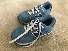 Boys Girls Youth Canvas Blue Gray New Balance Sneakers Size 2