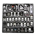 XD#3 42 PCS Domestic Sewing Machine Foot Feet Snap On For Brother Singer Set
