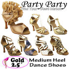 50 SHADES of GOLD 25 Heel Dance Dress Shoes Collections I by Party Party