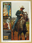 1976 rodeo star bobby berger photo Lee Western Wear Jeans vintage print Ad