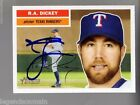 2005 Topps Heritage R.A. Dickey Auto Autographed Signed