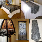 US Halloween Home Decor Spider Curtain Table Cover Lamp Cover Table Runner Decor