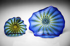 Dale Chihuly Rare Large Two Piece Persian 98 Glass Sculpture Azzuro Blue NR