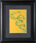 Dale Chihuly Two Original Drawings two sided Custom Framed showing both Drawings