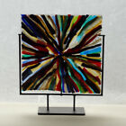 Art Glass panel fused glass abstract 2