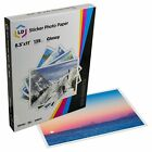 LD Products Glossy Inkjet Photo Sticker Paper 85X11 100 Sheets Total