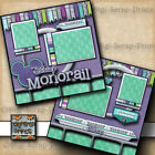 DISNEY MONORAIL RIDE 2 premade scrapbooking pages layout 4 album BY DIGISCRAP