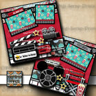 DISNEY HOLLYWOOD STUDIOS premade scrapbook pages layout paper piecing DIGISCRAP