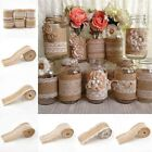 Natural Jute Burlap Roll Lace Hessian Trim Table Bands Wedding Decor DIY Crafts
